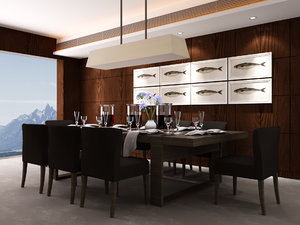 dining room set model