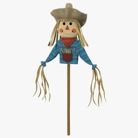 halloween harvest scarecrow decoration model