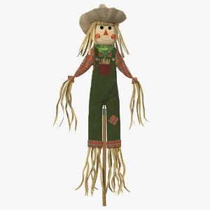 3D harvest scarecrow