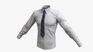 cloth male formal tie 3D model