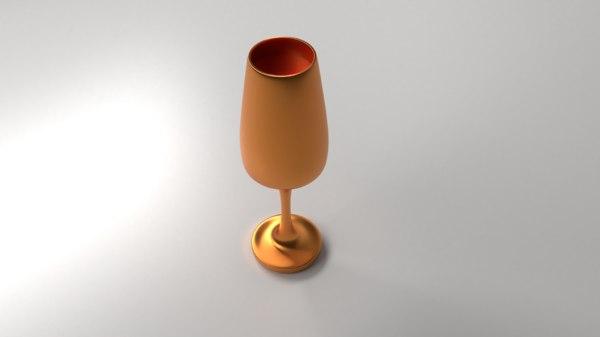 3D copper goblet liquid model