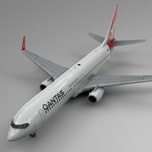 3D qantas boeing 737-800 l395 model