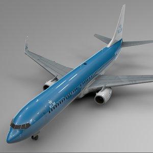 klm boeing 737-800 l396 model