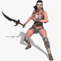 gal gadot warrior character 3D model