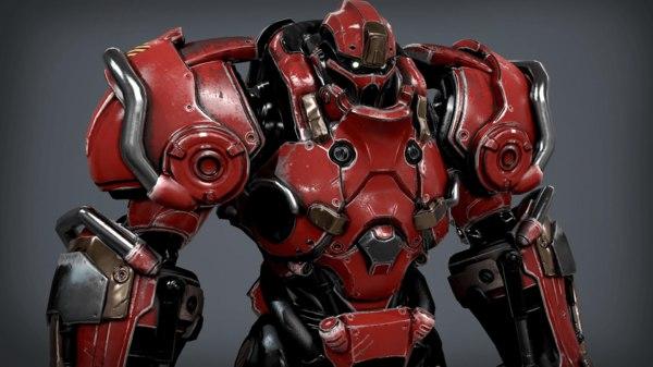 3D sci fi power suit
