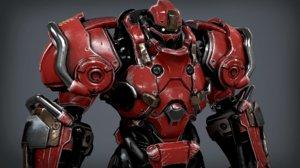 sci fi power suit 3D model