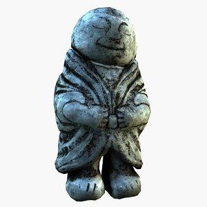 3D japanese statue model