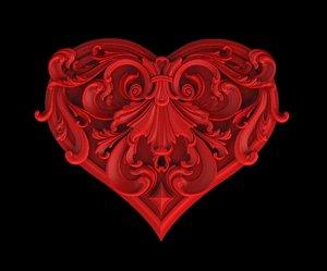 3D model heart art