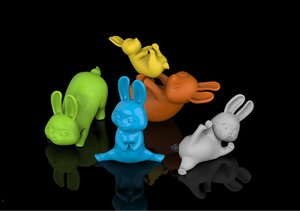 rabbit animal toy model