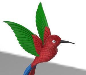 3D colibri