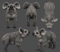 koala Low-poly 3D model