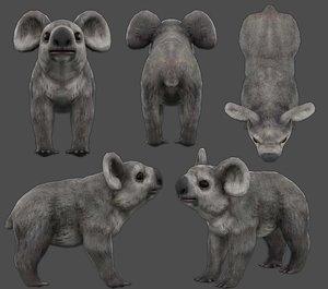 3D koala low-poly model