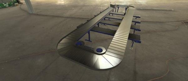 3D conveyor plate