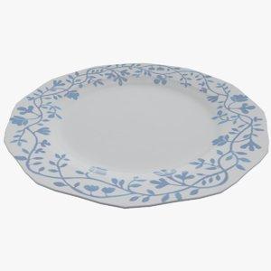 3D plate dish bowl