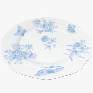 3D plate dish bowl model