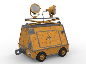 mobile work lamp generator 3D