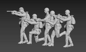 3D model soldier ussr