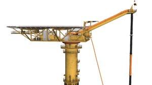 oil rig gullfaks loading 3D