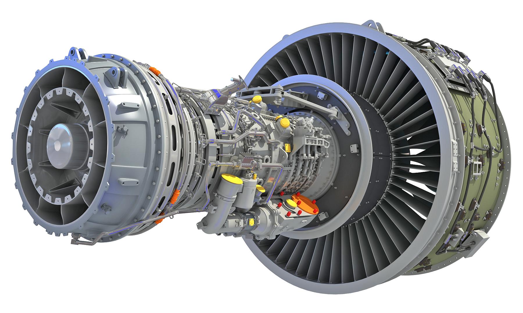 geared turbofan engine 3D model