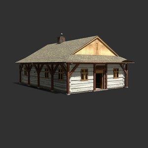 old building europe 3D model