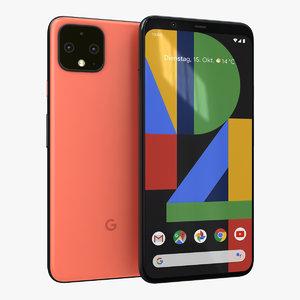 3D google pixel 4 oh