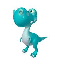 3D dinosaur cartoon