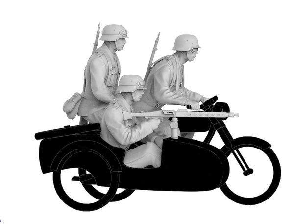 german crew soldier model
