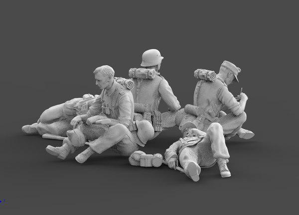 3D german soldier model
