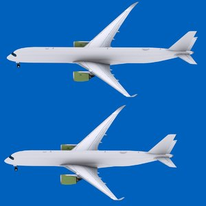 3D airbus a350-900 a350-1000 a350 model