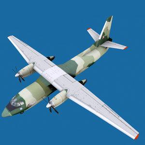 3D antonov an-26 base livery