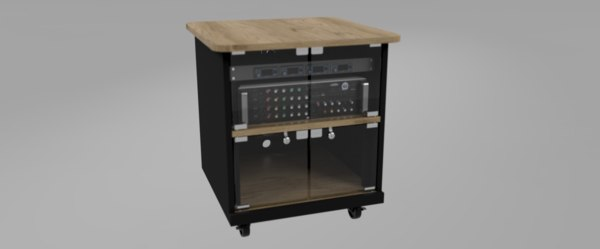 mixer cabinet rack model