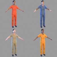 female prisoner 3D model