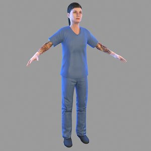 female prisoner 3D