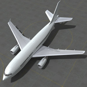 3D model airbus generic white