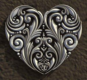 3D art heart model