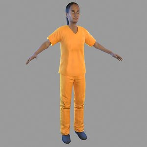 3D female prisoner model