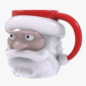3D model father christmas mug