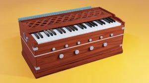 harmonium classical indian 3D