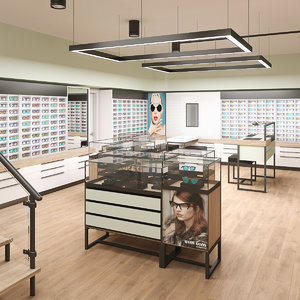 3D model optical store interior