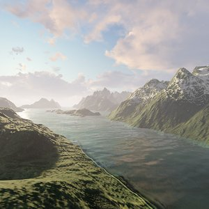 fjord mountains 3D model