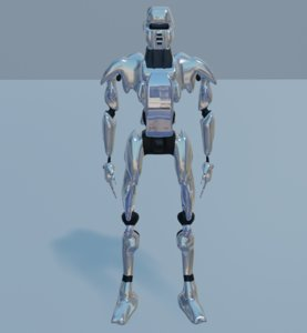 robot rigged character unity model
