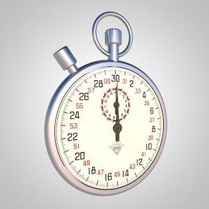 3D stopwatch watch