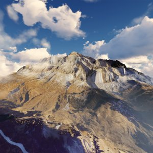 3D model dolomites mountain landscape