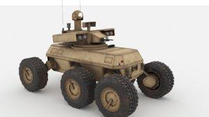 armed robotic vehicle mule model