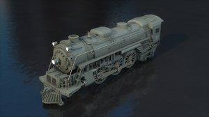 3D steam locomotive 2-6-4