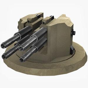 3D sci fi turret aa