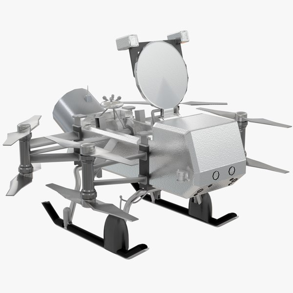 3D dragonfly lander nasa spacecraft model
