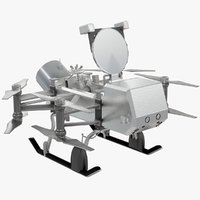 3D dragonfly lander nasa spacecraft model