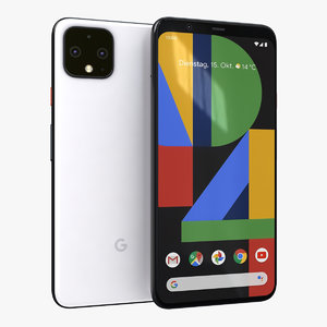 3D google pixel 4 clearly model