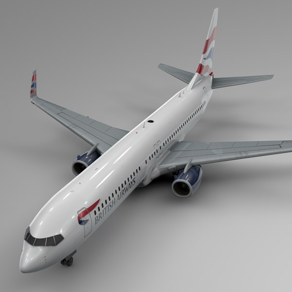 british airways boeing 737-800 3D model